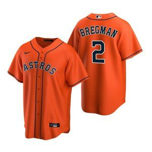 Youth Houston Astros Alex Bregman Jersey Orange